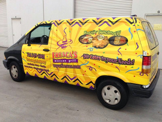 Catering and food van wraps Orange County
