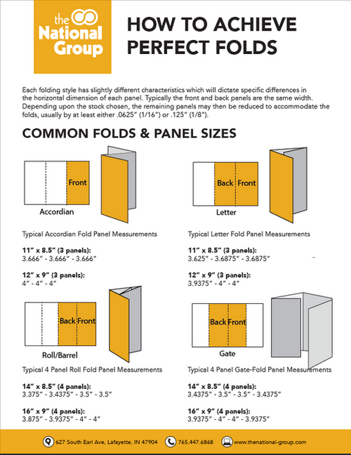 Printable Flyer Folds Guides