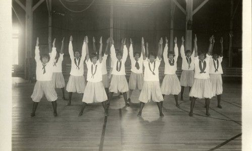 C.M. Battey - Tuskegee Women's Physical Education Class