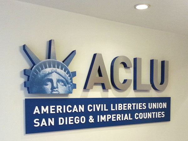 ACLU Acrylic letters