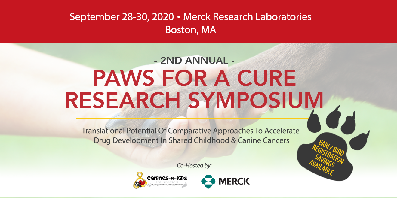 Canines-N-Kids Foundation's Paws for a Cure Research Symposium Goes Virtual,  Rescheduled for September 29-30