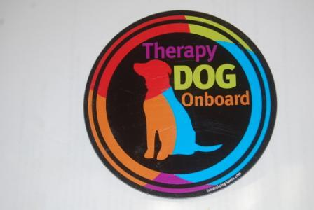 Therapy Dog Onboard