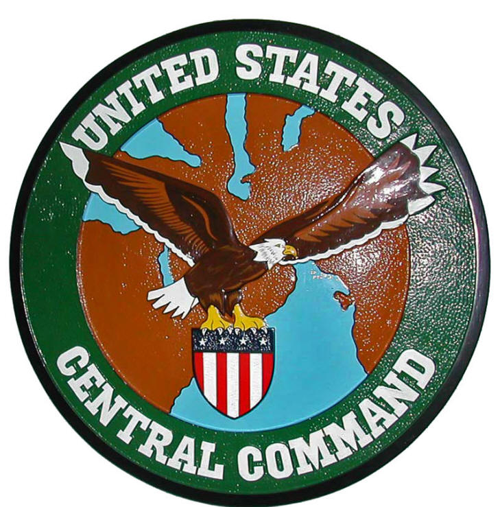 V31741 - Carved Wall Plaque for US Army Central Command