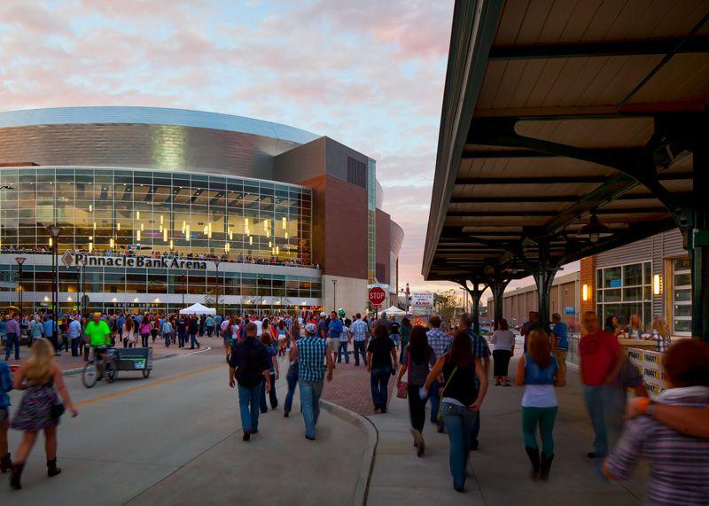 Lincoln's Haymarket and Pinnacle Bank Arena