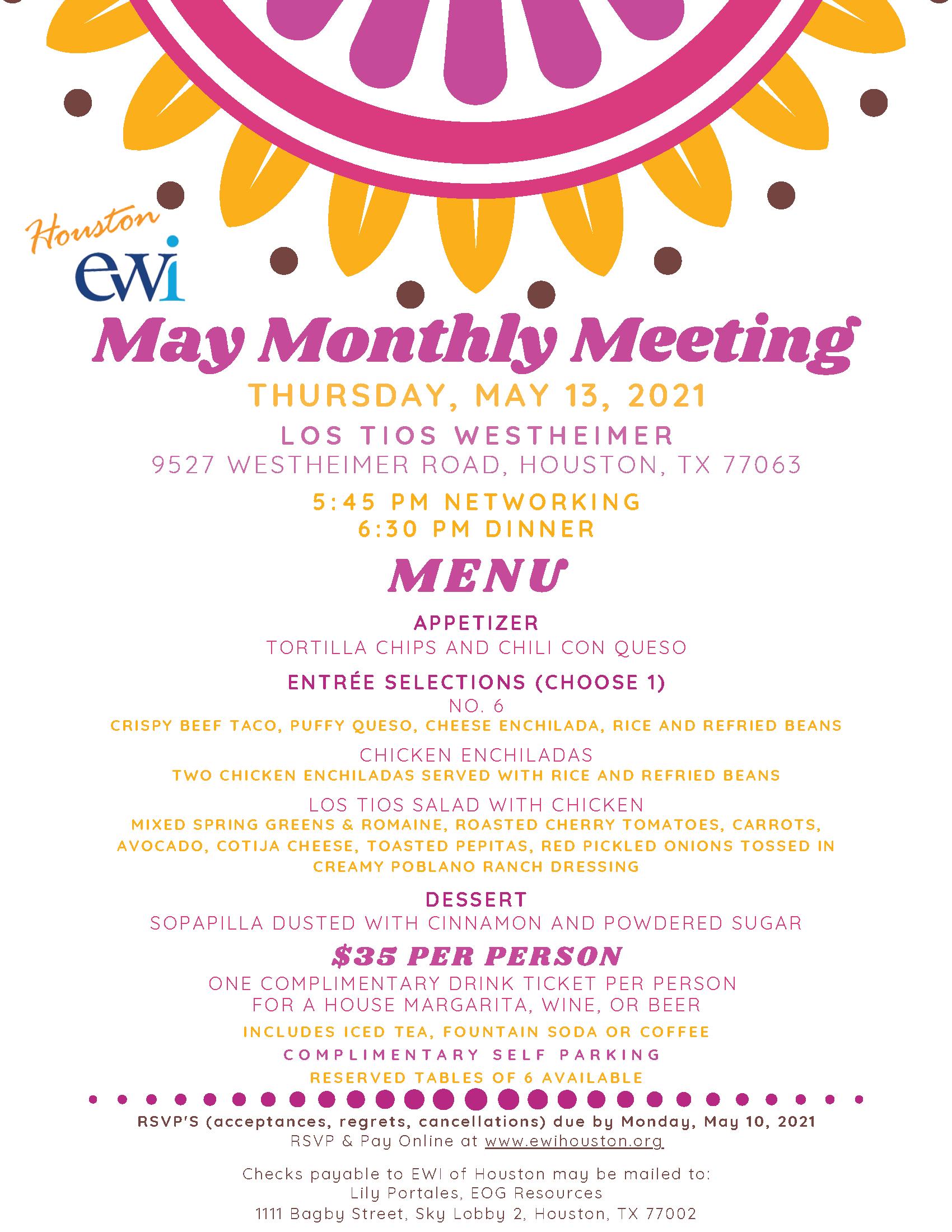 EWI May 2021 Meeting