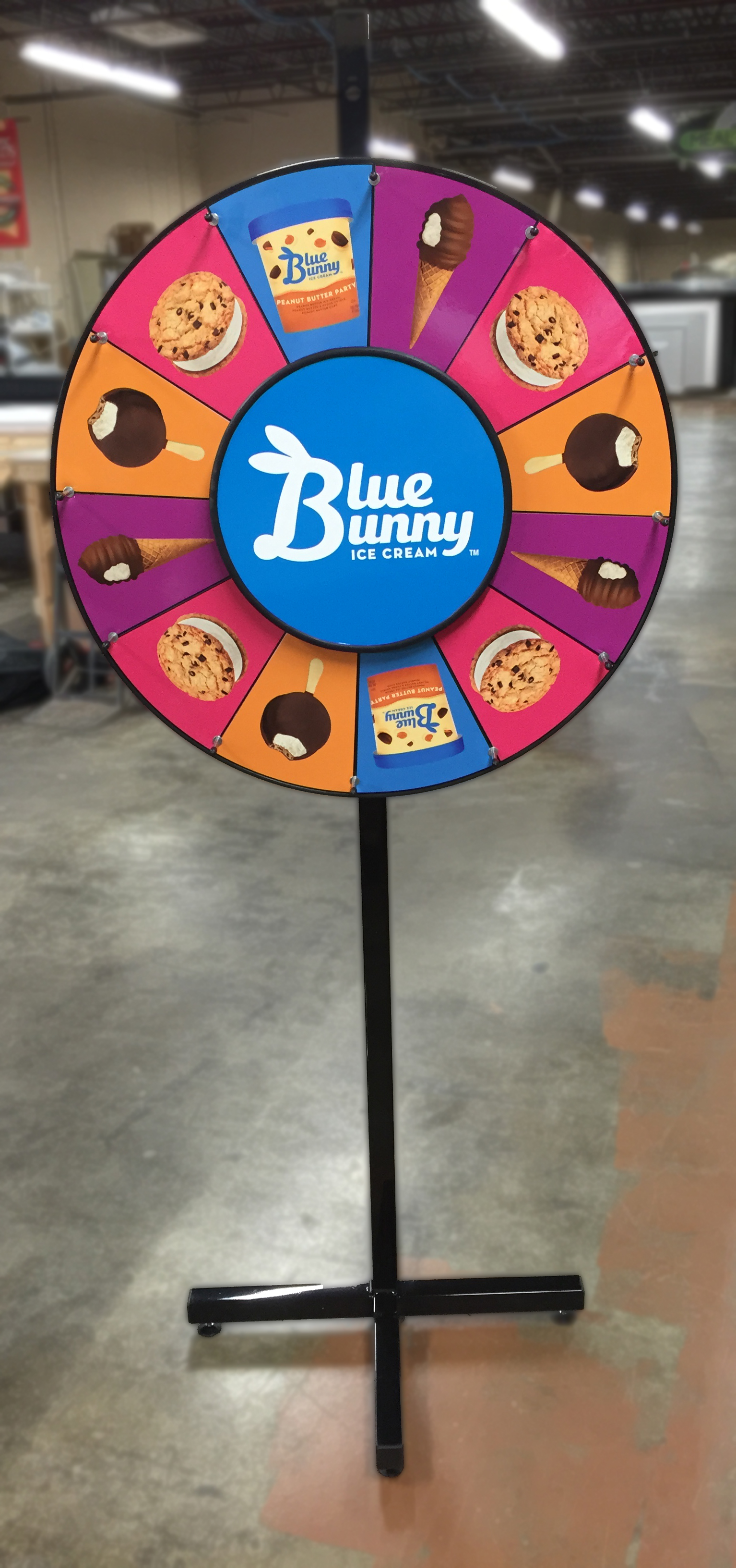 Blue Bunny Prize Wheel