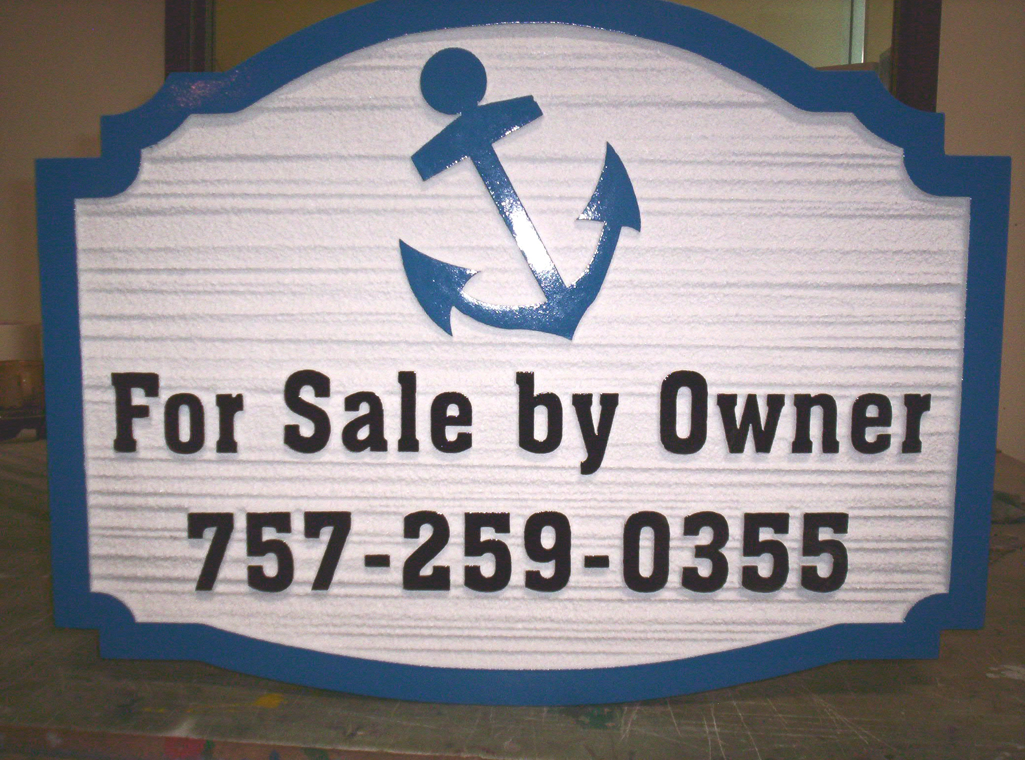 C12410 - For Sale by Owner Sign, Carved Wood Grain