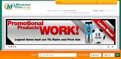 Minuteman Press Promotional Products Website