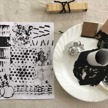 Mark Making with Found Objects