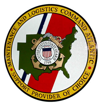 V31924 - Coast Guard Wooden Wall Plaque for Maintenance & Logistics Command