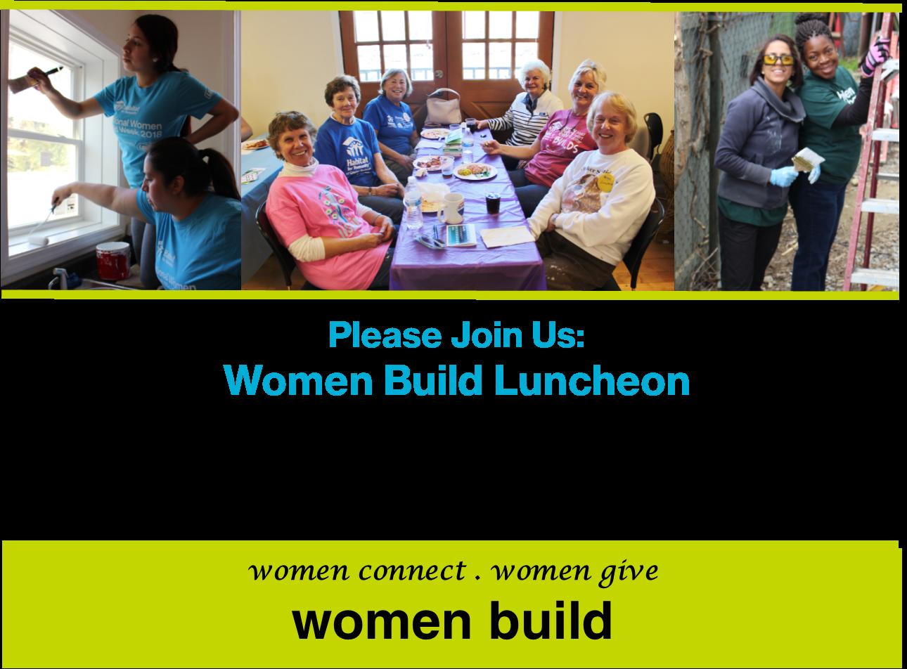 Women Build Luncheon