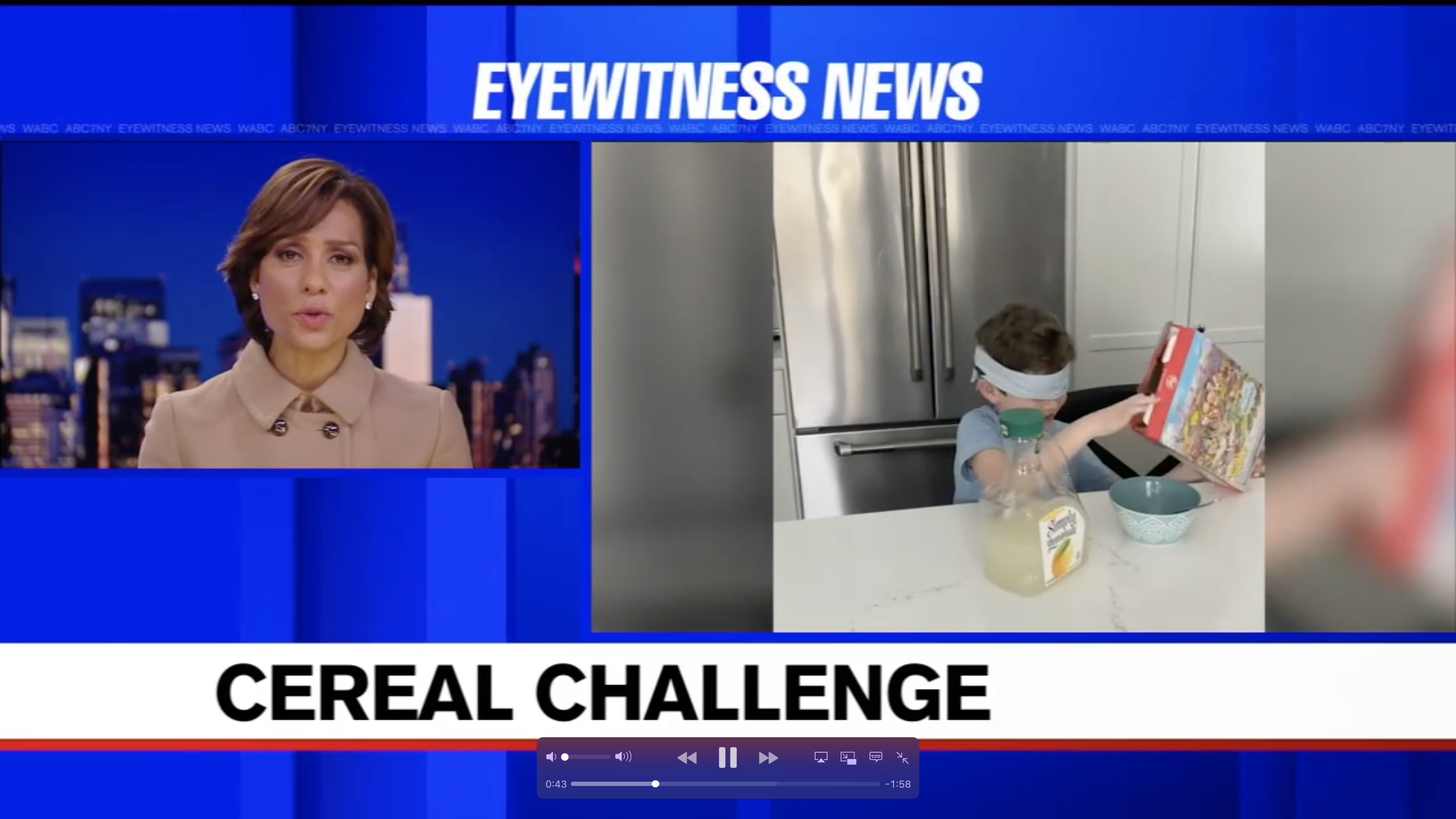 NJ boy with rare genetic disorder starts blindfold cereal challenge