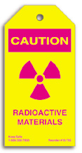 Radioactive Materials Caution Tag