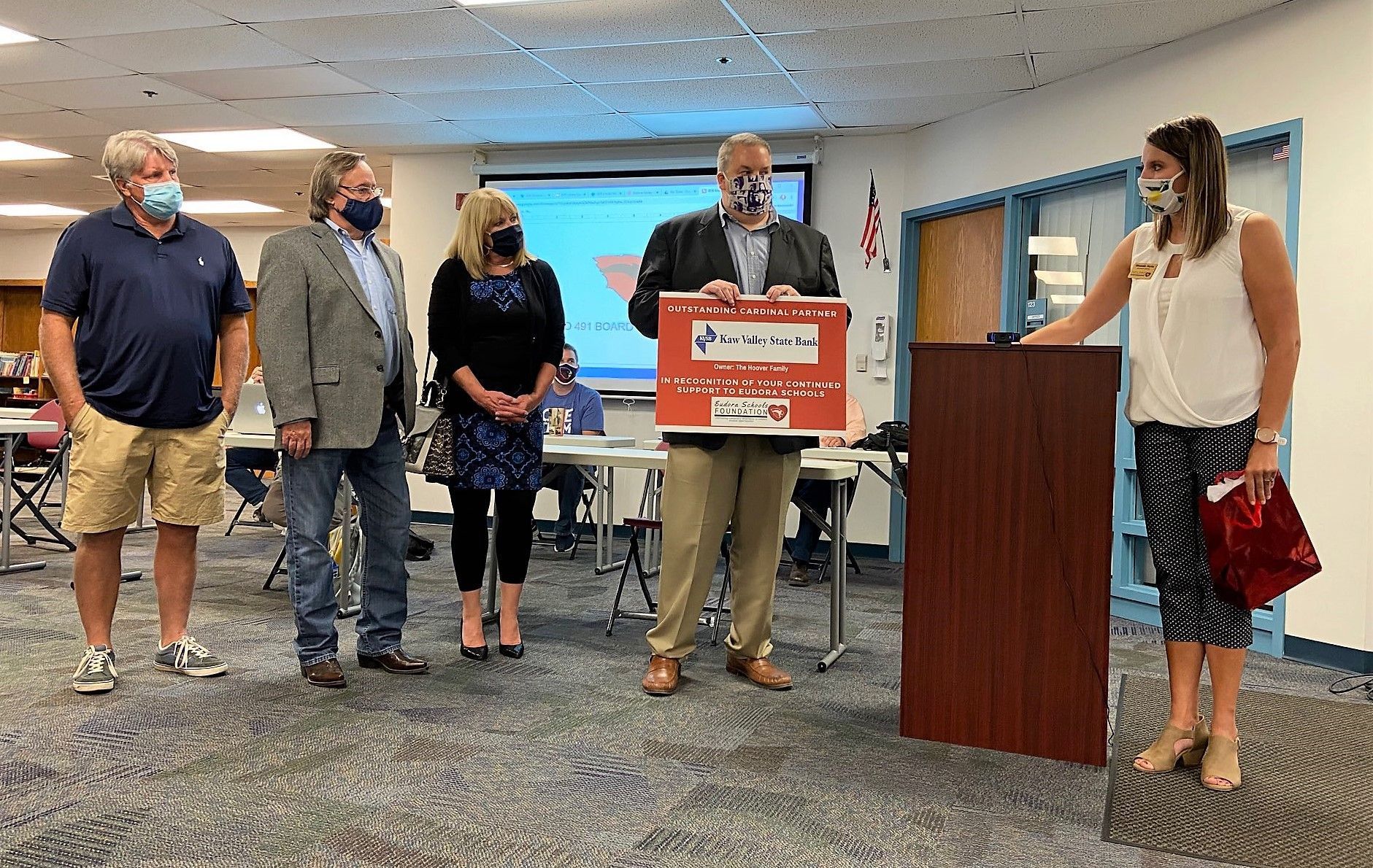 Congratulations to Kaw Valley State Bank - Eudora School Foundation's 2020 Outstanding Cardinal Partner
