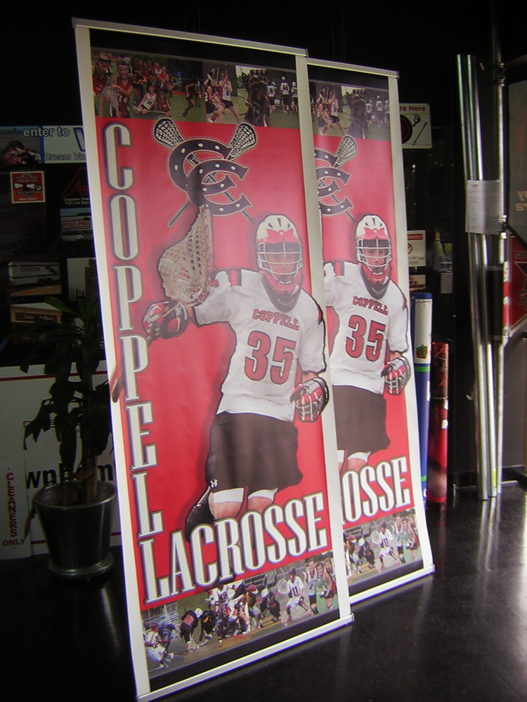 "Lacrosse ""L"" Banner Stand"