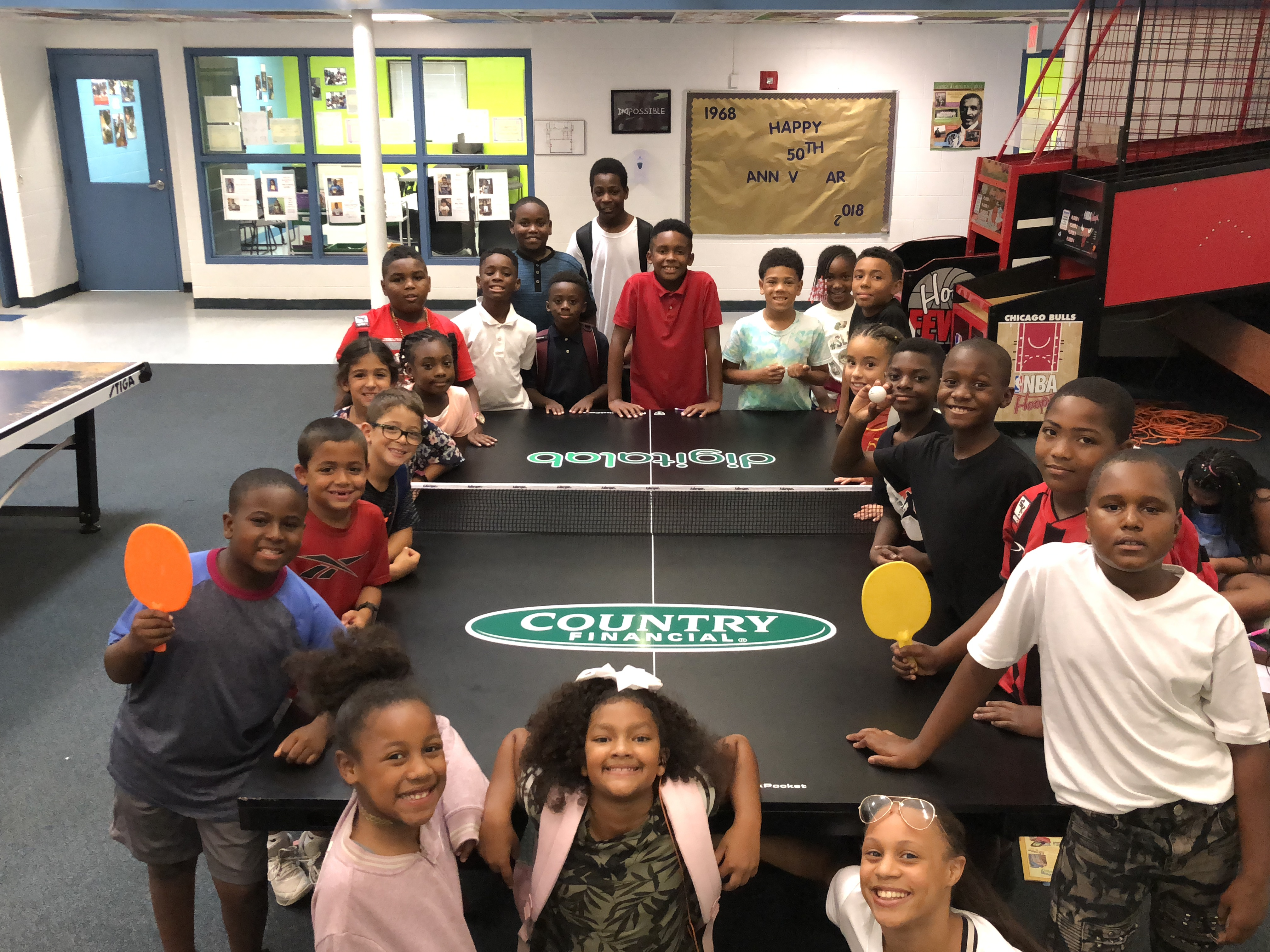 Thank you Country Financial for the donation of the amazing ping pong table!