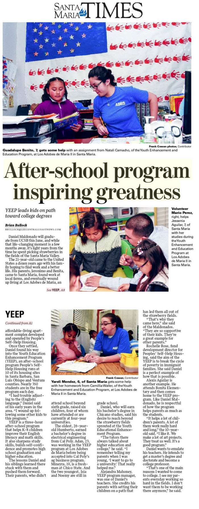 After-school program inspiring greatness - Santa Maria Times