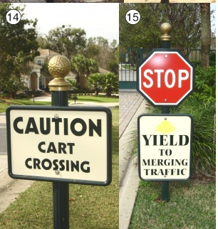 H17004 - Short Square Signposts