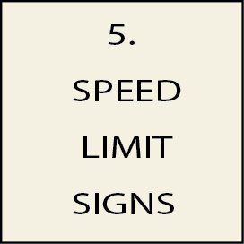 5. - H17244 - Speed Limit Signs (continued from page 2)