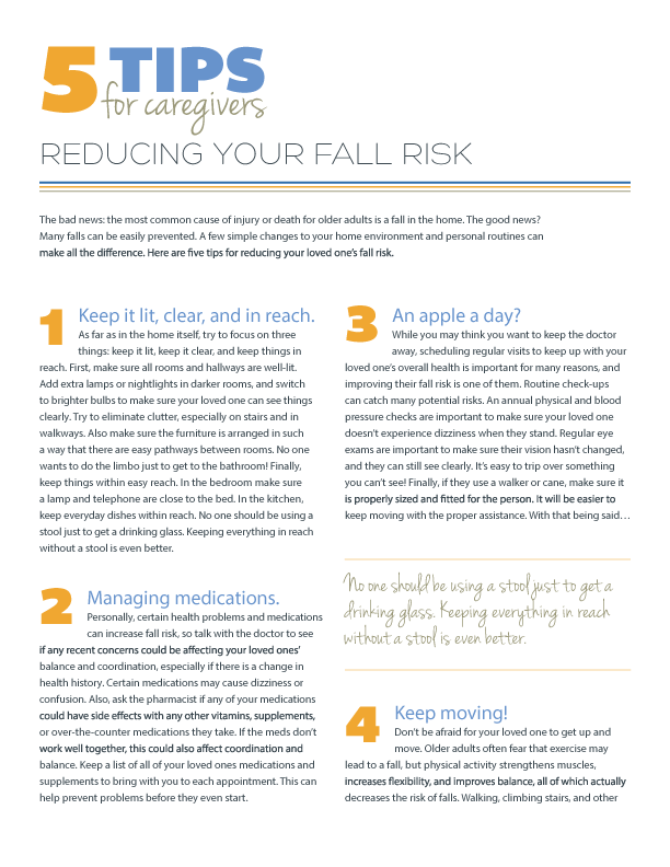 5 Tips for Reducing Your Fall Risk