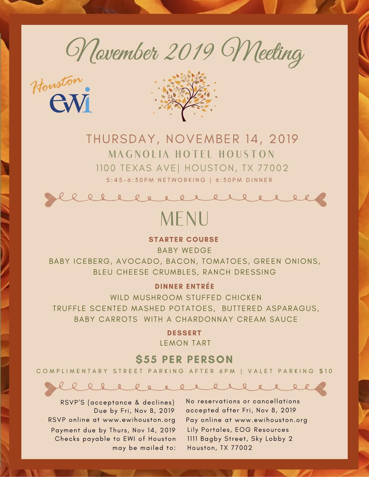 EWI November Monthly Meeting