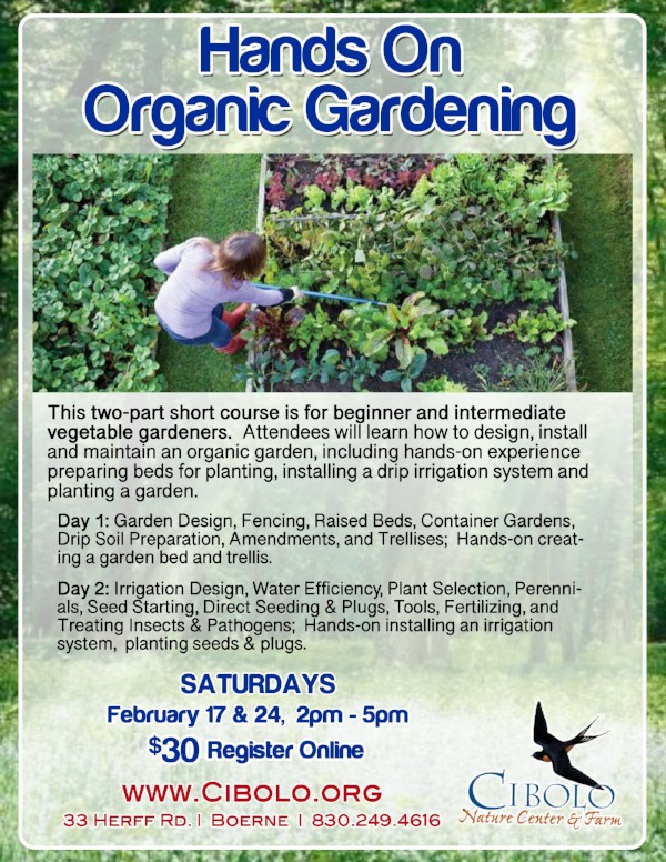 FARM: Hands-on Organic Gardening 2-part Short Course