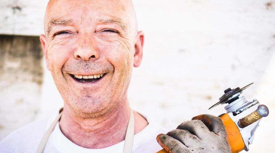 Construction Volunteer Smiling