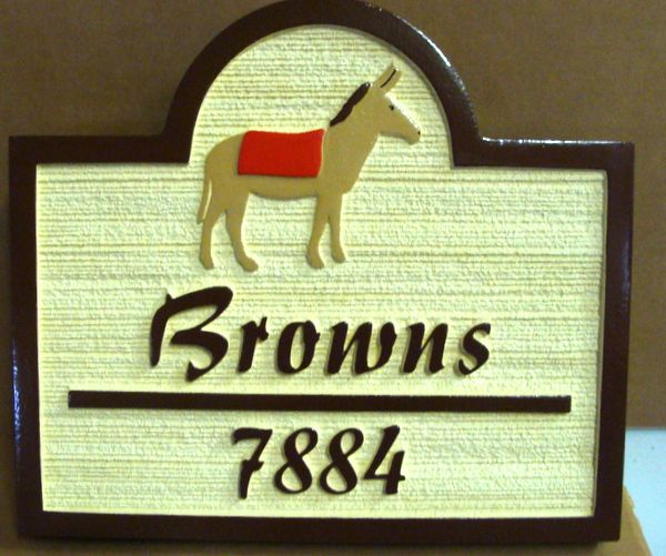 M22952 - Sandblasted Desert Home Sign, with Donkey