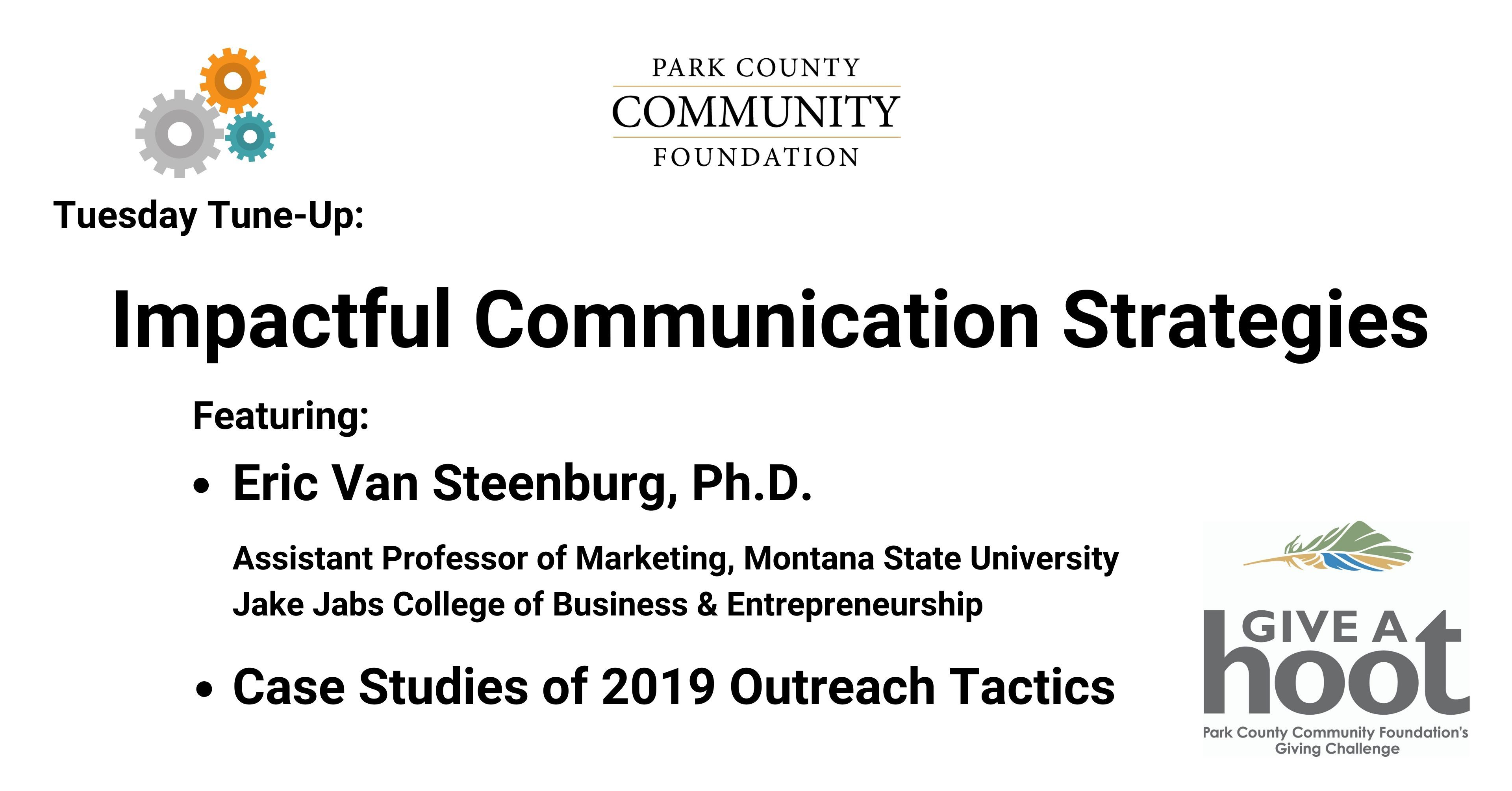 Impactful Communication Strategies: June 9, 2020