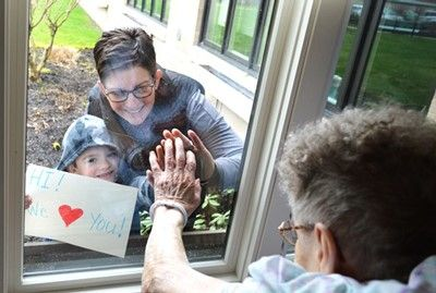Window Visits at St. Anne Home