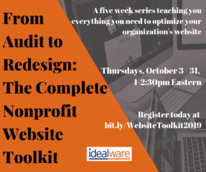 From Audit to Redesign: The Complete Nonprofit Website Toolkit, Five-Part Course