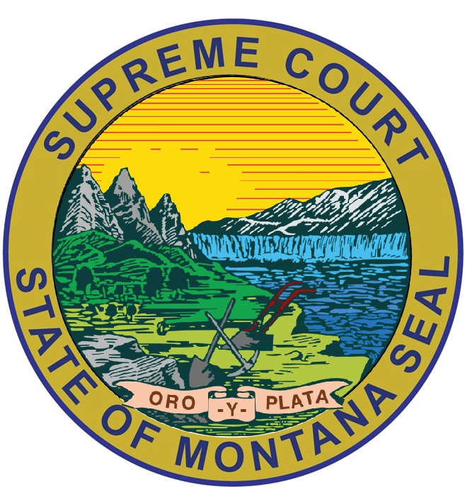 GP-1360 - Carved Plaque of the Seal of the  Supreme Court, State of Montana,Artist Painted