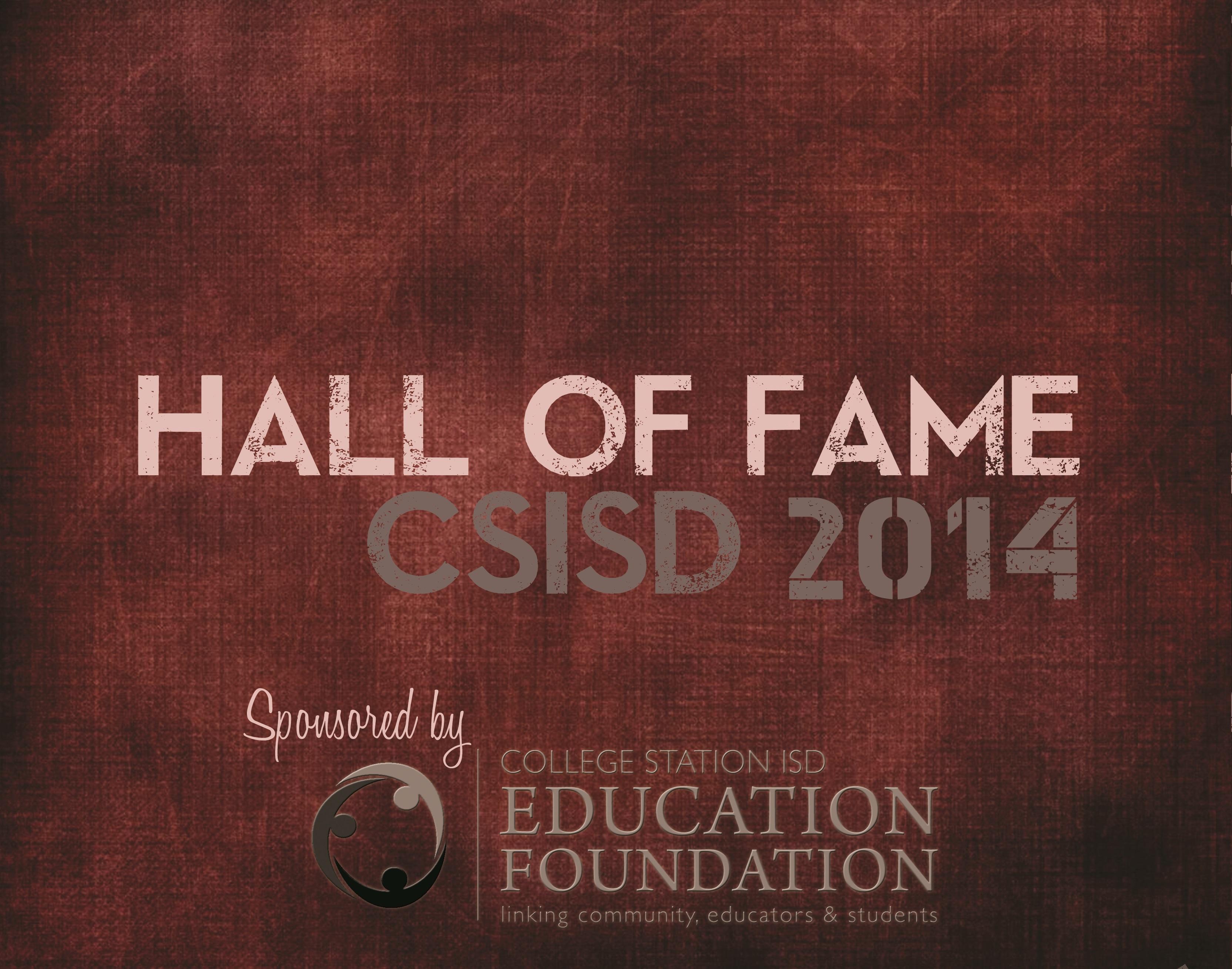 2014 Hall of Fame Program