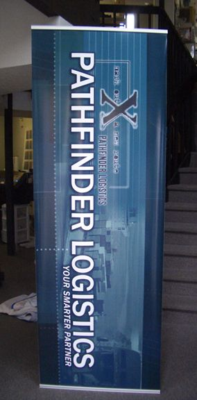 Pathfinder Logistics Pop-Up Banner