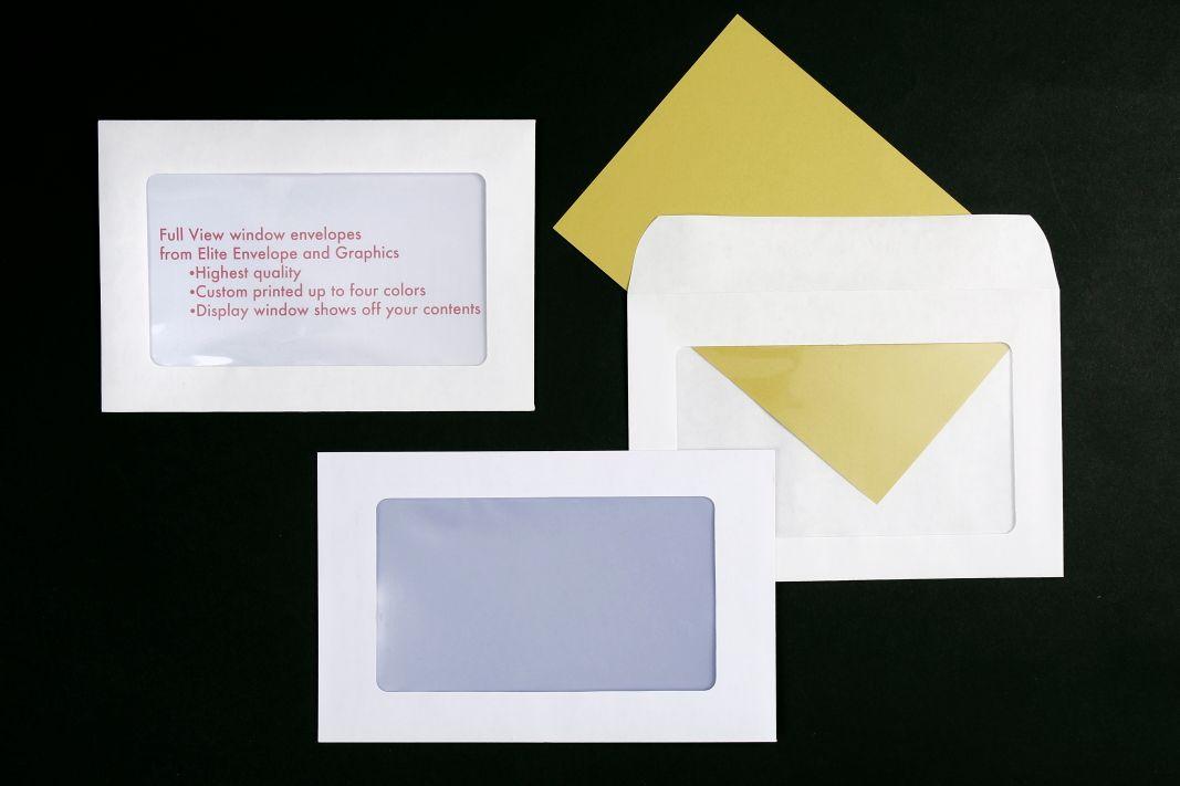 Full View Display Window Envelopes