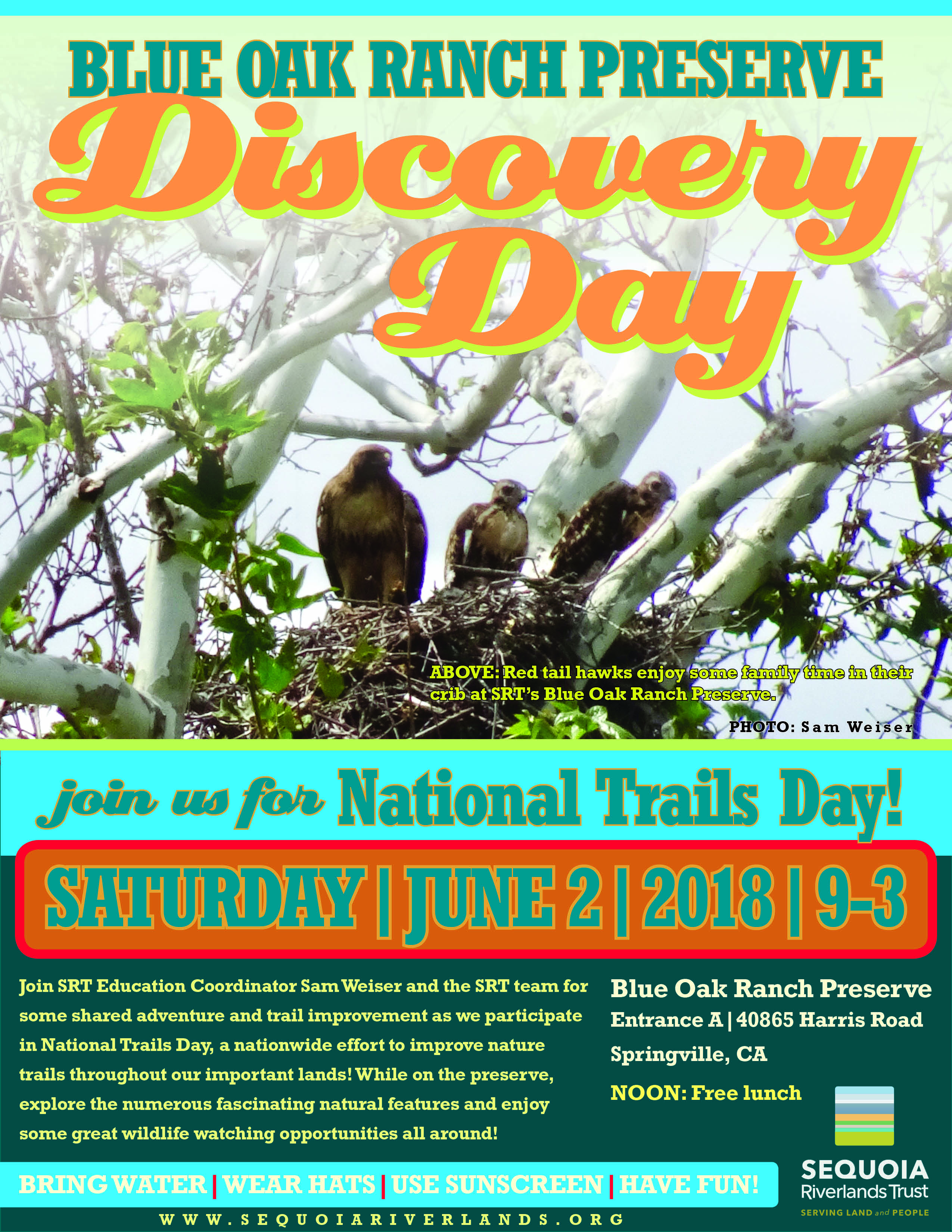 Final Blue Oak Discovery Day this Saturday 6-2-18