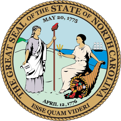 W32380 - Seal of the State of North Carolina Wall Plaque