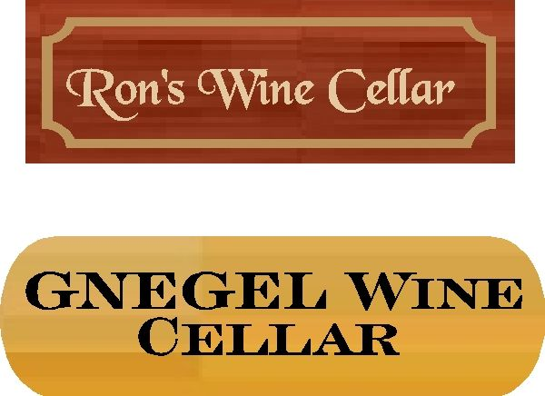 R27390 Redwood and cedar Wine Cellar Wall or Door Plaques