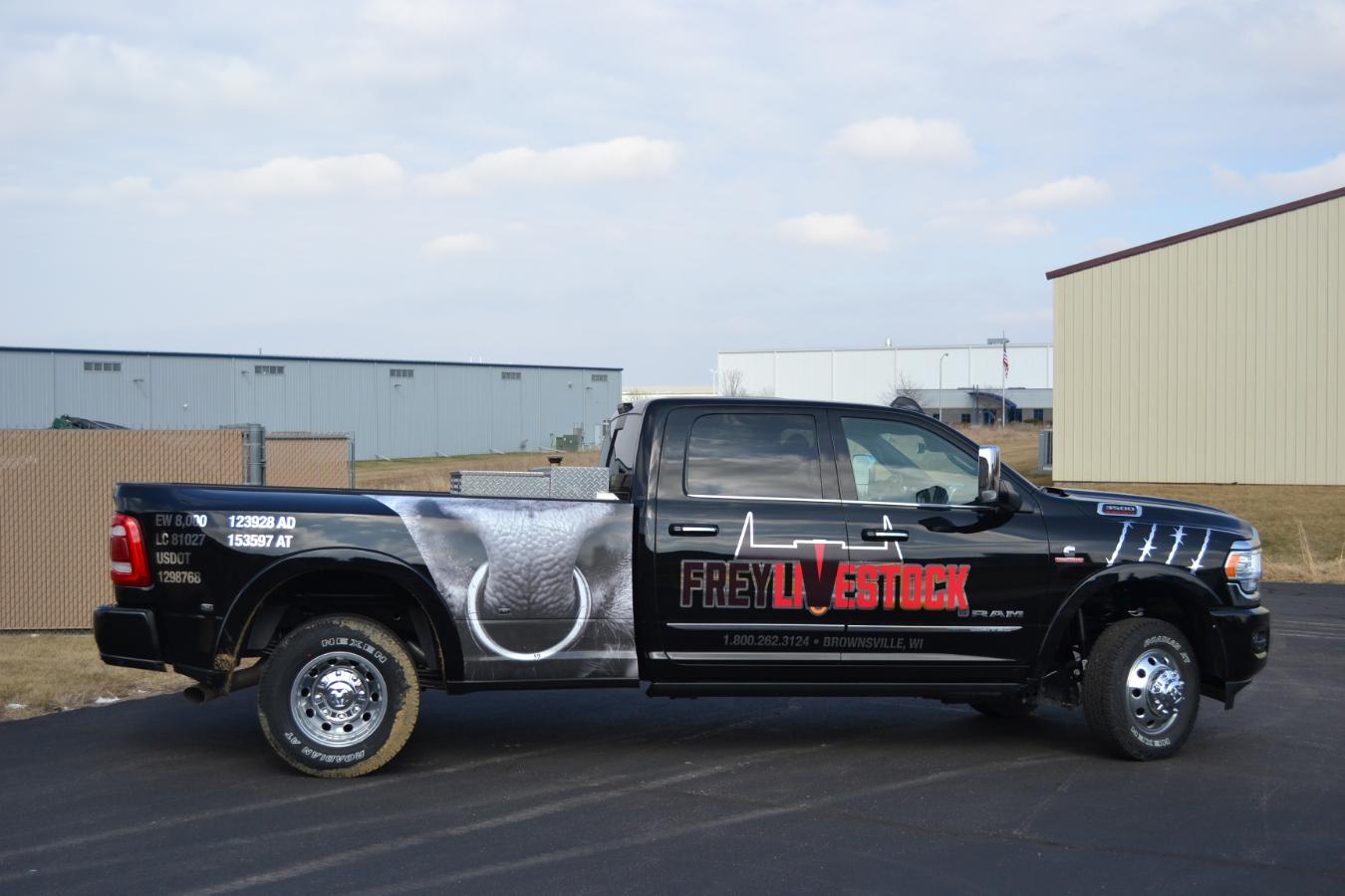 Frey Livestock vehicle wraps