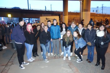 Members of YLS Class of 2018 at Blessings Under the Bridge in March.