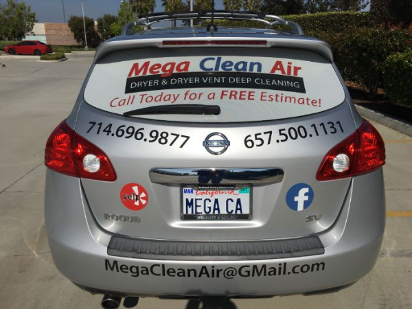 Affordable vehicle vinyl window perf in Fullerton CA