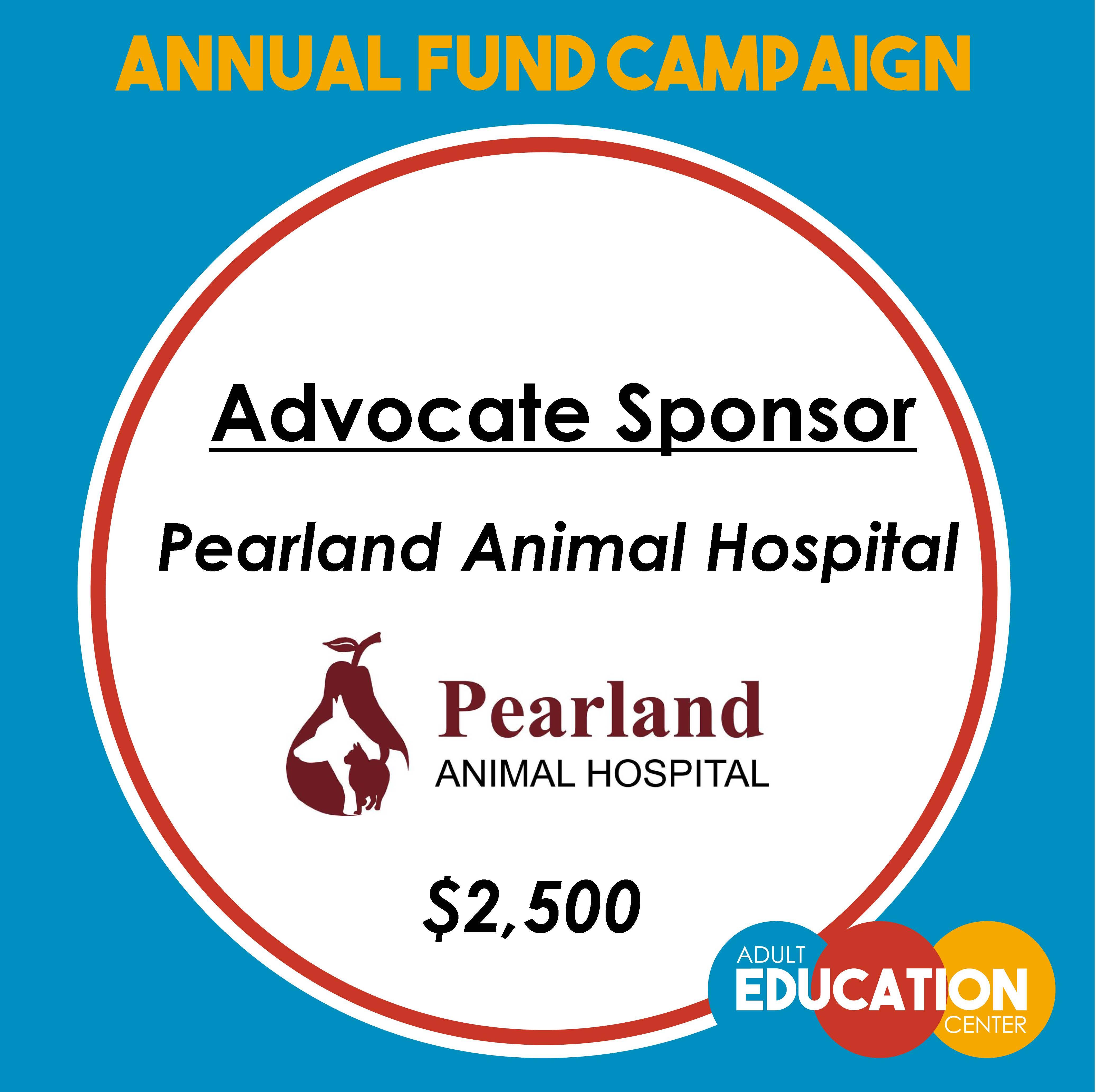 Pearland Animal Hospital - Advocate Sponsor - $2,500