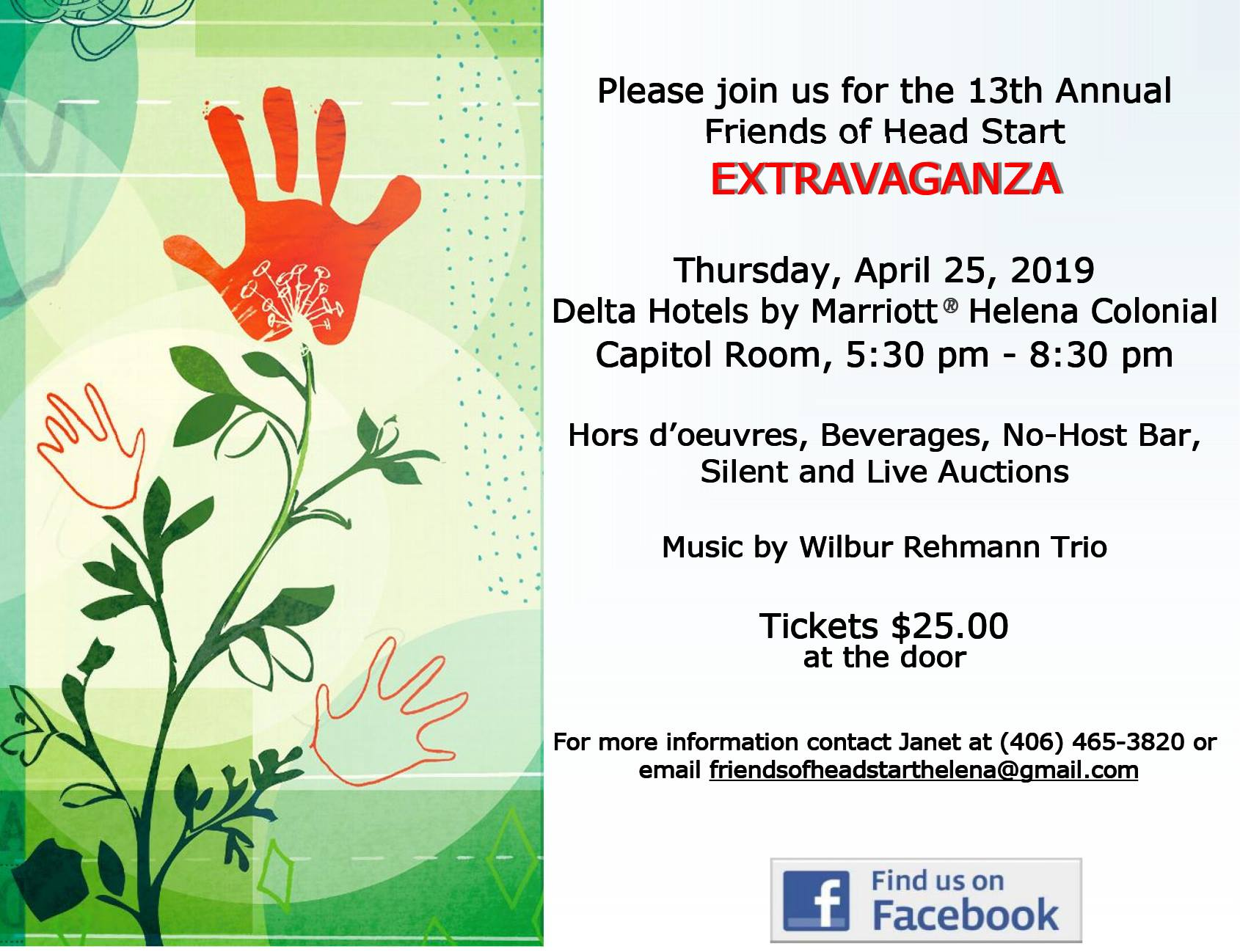 Friends of Head Start Extravaganza invitation image