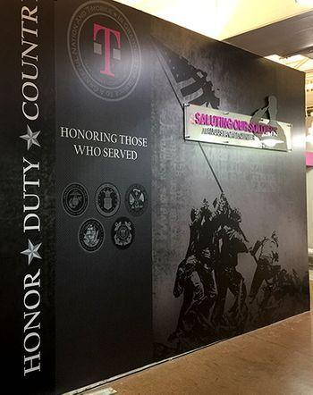 T-Moble Honoring Veterans Mural
