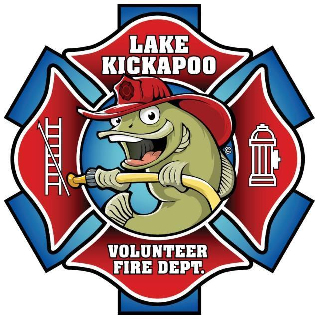QP-3090 - Carved Wall Plaque of  the Seal/Emblem  of the Lake Kickapoo Volunteer   Fire Department,  Artist Painted