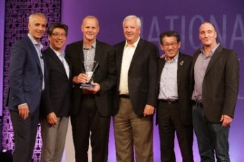 Eakes Employees Receiving Award