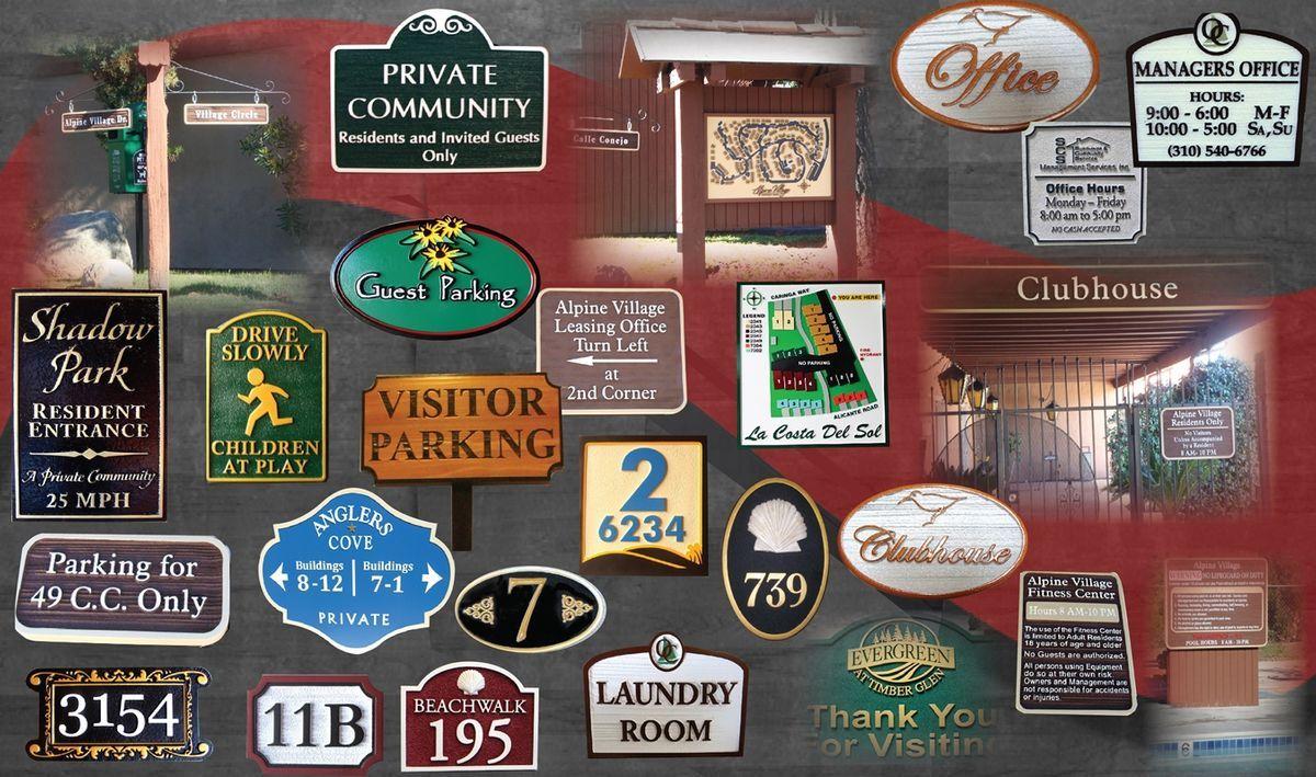 Apartment, condo and Subdivision Signs