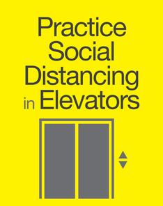 social distance/elevators
