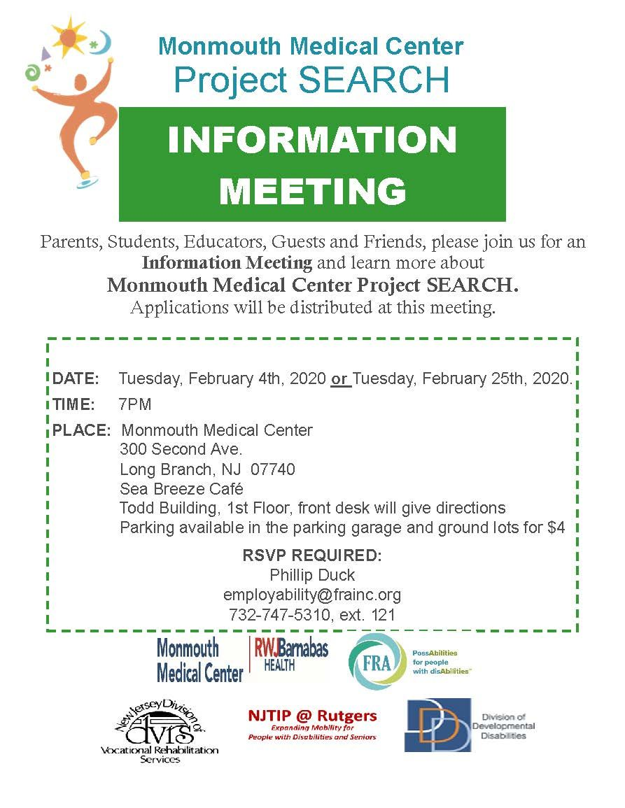 Project Search Information Meeting Feb. 25, 2020