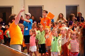 FUMC Children Singing in Vacation Bible School